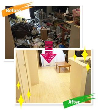 北九州市でのゴミ屋敷の片付け事例