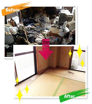 久留米市野中町でのゴミ屋敷の片付け事例
